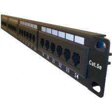 """Патч-панель 19""""/24 порта/RJ45/110 тип, кат. 5е"""
