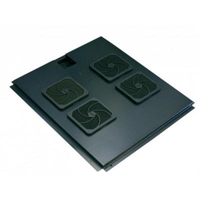 Модуль вентиляторный на 4 вентилятора, черный, для шкафов гл. 800 мм