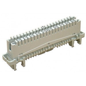 Плинт с нормально замкнутыми контактами LSA-Profile 10пар, 0…9, универ. (металл)