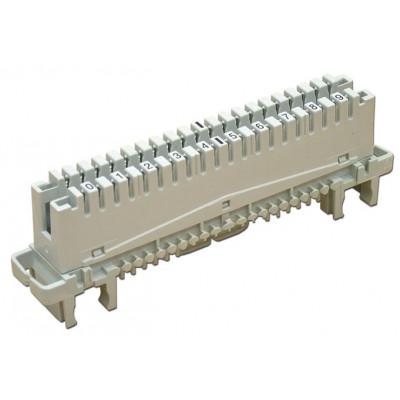 Плинт с нормально замкнутыми контактами LSA-Profile 10пар, 0…9, универсальный