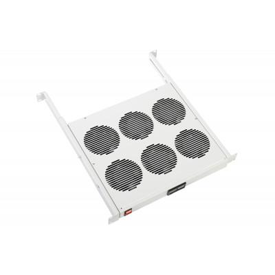 """Модуль вентиляторный 19"""" 1U, 6 вентиляторов, регулируемая глубина 390-750 мм, с термодатчиком"""