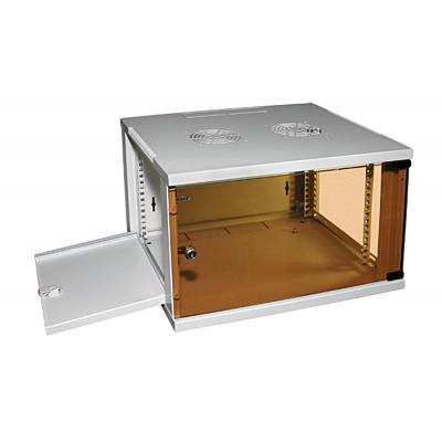 Шкаф телекоммуникационный настенный 6U (540x450х310) дверь стекло, цвет-серый