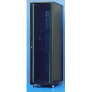 Шкаф телекоммуникационный напольный 47U (600х1000х2277) дверь стекло, задняя-перфорир., цвет-черный