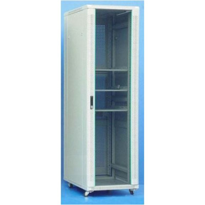 Шкаф телекоммуникационный напольный 47U (600х900х2277) дверь стекло, задняя-перфорир., цвет-серый
