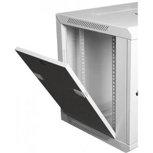 Шкаф телекоммуникационный настенный 9U (600x450х515) дверь стекло, цвет-серый