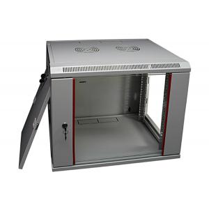 Шкаф телекоммуникационный настенный 12U (600x650х653) дверь стекло, цвет-серый