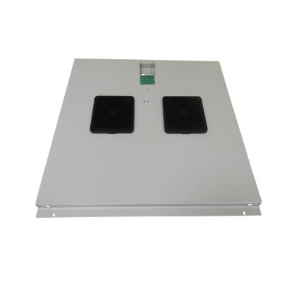 Модуль вентиляторный на 2 вентилятора, серый, для шкафов гл. 600 мм