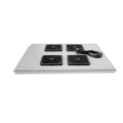 Модуль вентиляторный на 4 вентилятора, серый, для шкафов гл. 600 мм