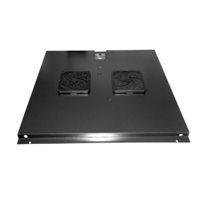 Модуль вентиляторный на 2 вентилятора, черный, для шкафов гл. 600 мм