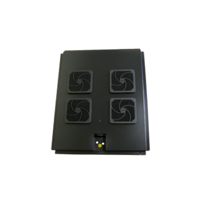 Модуль вентиляторный на 4 вентилятора 600х900, черный