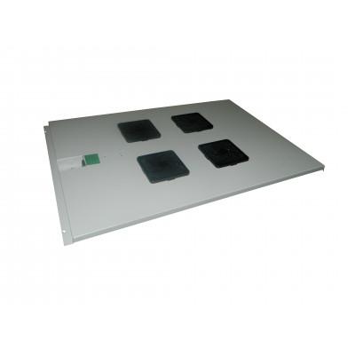 Модуль вентиляторный на 4 вентилятора 600х1000, серый