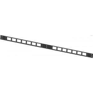 Вертикальный кабельный органайзер 42U, черный