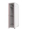 Шкаф телекоммуникационный напольный 42U (600х900х2055) дверь стекло, цвет-серый