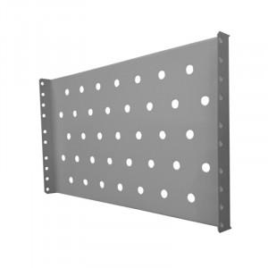 """Полка 19"""" стационарная для шкафа гл. 450,  цвет-серый"""