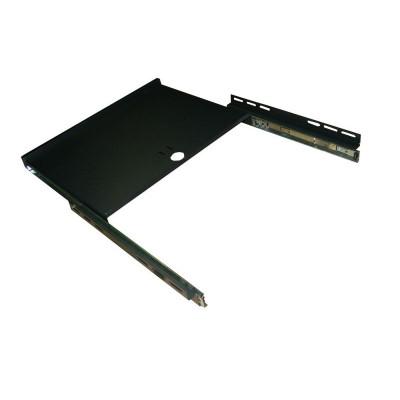 """Полка 19"""" под клавиатуру для шкафов гл. 600 мм, цвет- черный"""