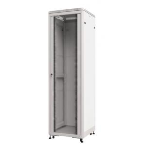 Шкаф телекоммуникационный напольный 15U (600х800х729) дверь стекло, цвет-серый