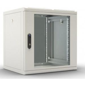 Шкаф телекомм. настенный 9U (600x650) дверь стекло, цвет-серый
