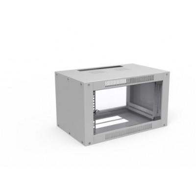 Шкаф телекоммуникационный настенный 4U (600x450х281) дверь стекло, цвет-серый, разборный