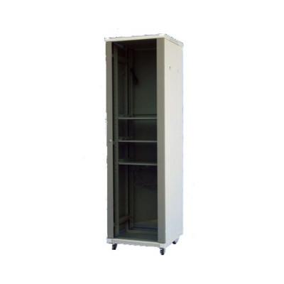 Шкаф телекоммуникационный напольный 27U (600х1000х1388) дверь стекло, цвет-серый