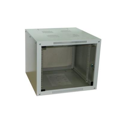 Шкаф телекоммуникационный настенный 12U (600x600х640) дверь стекло, цвет-серый, разборный