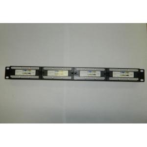 """Патч-панель 19""""/24 порта/RJ45/ dual IDC, кат. 6, с органайзером"""