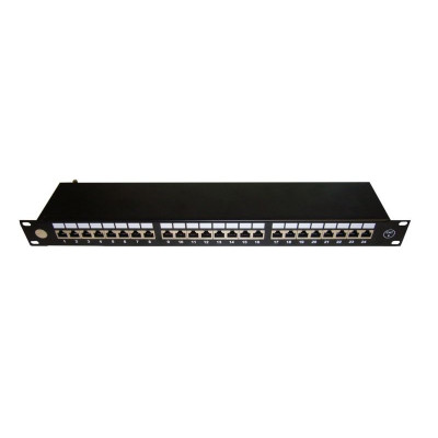 """Патч-панель 19""""/24 порта/RJ45/ dual IDC, кат.6/ экранированная"""