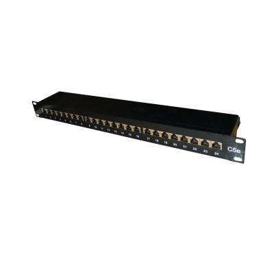 """Патч-панель 19""""/24 порта/RJ45/ dual IDC, кат.5е/ экранированная"""