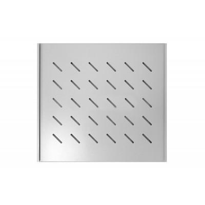 """Полка 19"""" стационарная для шкафа гл. 600, цвет-серый"""