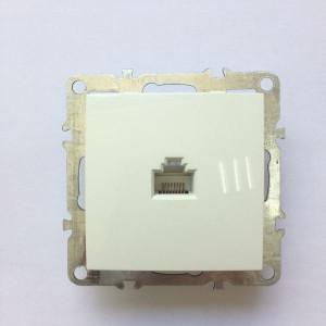 Компьютерная розетка на 1 порт RJ45 cat.5e, неэкран., скрытой установки, IP20, белая,  Technolink