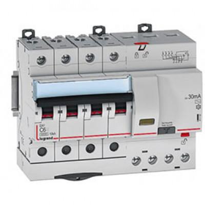 LEGRAND 407302 Автоматический выключатель, серия DX3-E, С6A, 6kA, 4-полюсный