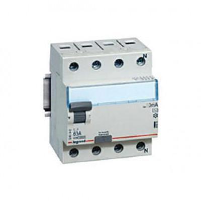 LEGRAND 411746 Дифференциальный выключатель, серия DX3, 63A, 300mA(S), 4-полюсный, тип АС