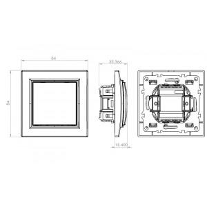 Выключатель одноклавишный скрытой установки, 10А, IP20, белый Technolink