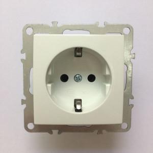 Розетка электрическая с заземлением, скрытой установки, 16А, IP20, белая, Technolink
