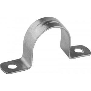 Скоба металлическая 2-лапковая d25-26 мм
