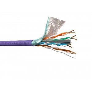 """Кабель FTP 4 cat.6, нг(А)-HF LSZH, фиолетовый, бухта 305м """"Netko"""""""