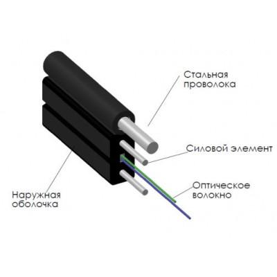 Оптический кабель с 4 волокнами G652D с выносным элементом