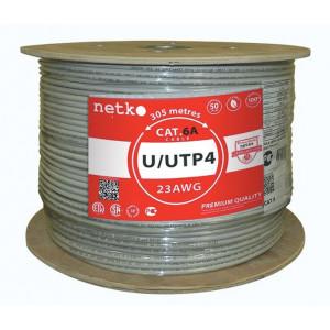 """Кабель U/UTP 4 Cat.6А, бухта 305м, серый """"Netko"""""""