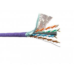 """Кабель FTP 4 cat.6A, нг(А)-HF LSZH, фиолетовый, бухта 305м """"Netko"""""""