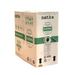 """Кабель F/UTP 4 cat.5e,  нг(A)-HFLTx, зеленый, бухта 305м """"Netko"""""""