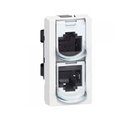 LEGRAND 076536 Модуль розетки RJ-45, удвоитель телефон/Ethernet, UTP, 2М, Mosaic