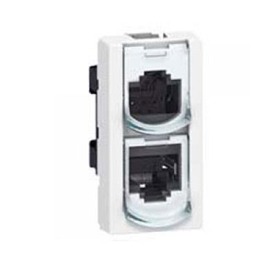 LEGRAND 076537 Модуль розетки RJ-45, удвоитель телефон/Ethernet, FTP, 2М, Mosaic