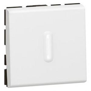 LEGRAND 077012 Переключатель 2-х позиционный, 2М, с подсветкой, белый, Mosaic