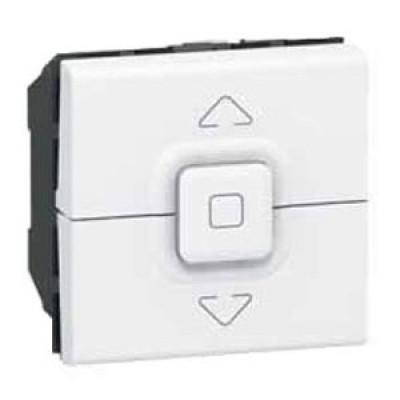 LEGRAND 077025 Выключатель управления приводами кнопочный, 2М, 500 Вт макс., белый, Mosaic