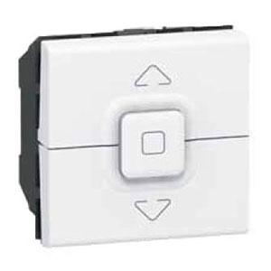 LEGRAND 077026 Выключатель управления приводами, 2М, 500 Вт макс., белый, Mosaic