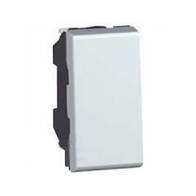 LEGRAND 077030 Выключатель кнопочный, 1М, 6А, белый, Mosaic