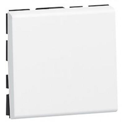 LEGRAND 077040 Выключатель кнопочный, 2М, 6А, белый, Mosaic