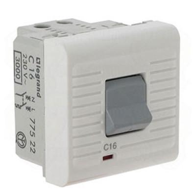 LEGRAND 077522 Автоматический выключатель термомагнитный P+N 230В, 16A, Mosaic, 2M