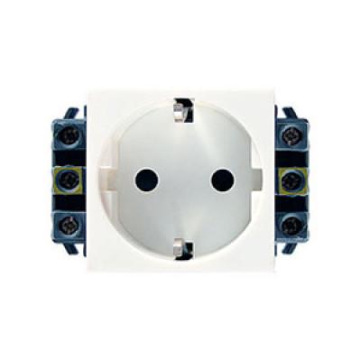LEGRAND 077601 Модуль розетки 2К+3, 2М, [Schuko] проходной (в короб), с защитн шторками, Mosaic