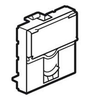 LEGRAND 078604 Лицевая панель для простого коннектора Keystone, 2М, Mosaic
