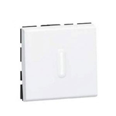 LEGRAND 078715 Выключатель кнопочный антибактериальный, 2М, 6А, белый, Mosaic